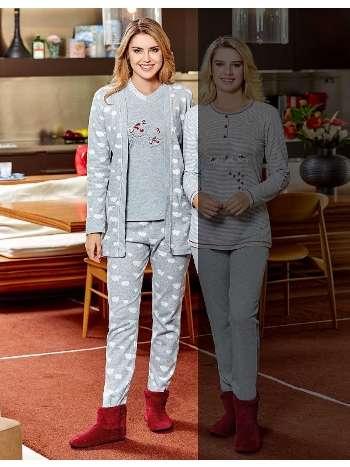 Bayan 3 lü Pijama Takım Dowry 15-70
