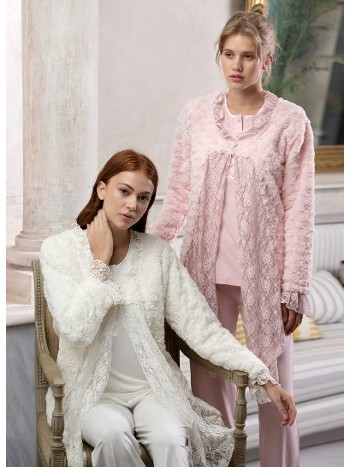 Bayan 3 Lü Pijama Takımı Feyza 3128