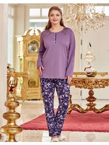 Bayan Büyük Beden Pijama Takım Dowry B09-02