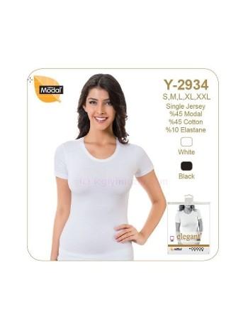 Bayan Elegant O Yaka Yarımkol Atlet Öztaş Y2934