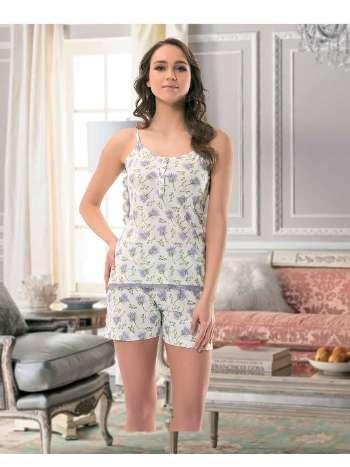 Bayan ince Askı Atlet - Şort Pijama NBB 66305