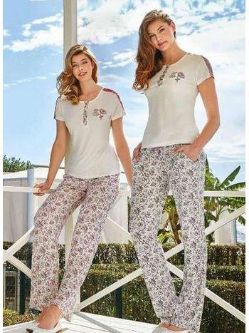 Bayan Kısa Kollu Pijama Takım Berrak 269