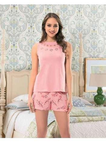 Bayan Kolsuz Şortlu Pijama NBB 66231