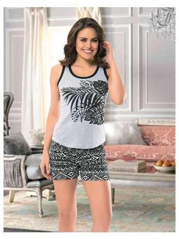 Bayan Kolsuz Şortlu Pijama NBB 66245