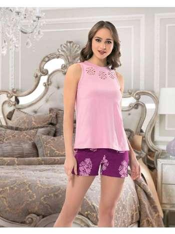 Bayan Kolsuz Şortlu Pijama NBB 66264