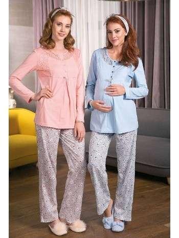 Bayan Pijama Takımı 2 Li Süprem Saç Bandı Hediyeli Yeni İnci BPJ1208
