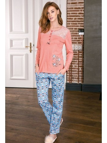 Bayan Pijama Takımı 2 Li Süprem Yeni İnci BPJ1178