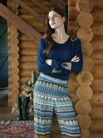 Bayan Pijama Takımı Günlük Kullanım 3 Lü Takım Miss Loren 1412
