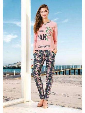 Bayan Renkli Uzun Kol Pantolon Takım Berrak 285