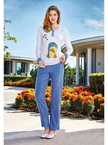 Bayan Uzun Kollu Pijama Takım Berrak 274