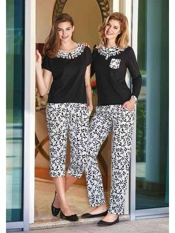 Uzun Kollu Pijama Takım Berrak 292