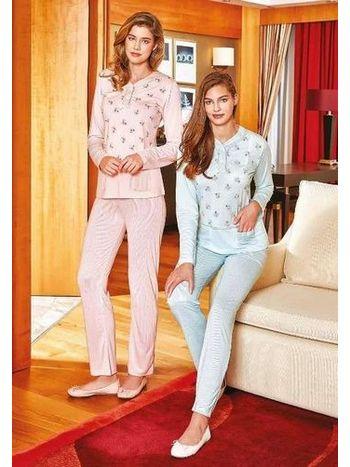 Bayan Uzun Kollu Pijama Takım Berrak 311