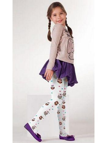 Daymod Baykuş Desenli Külotlu Çocuk Çorabı