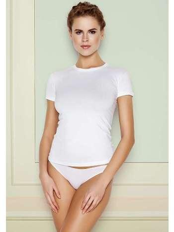 Bayan Kısa Kollu Beyaz BODY Tişört