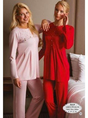 Küçük Çiçekli Pijama Takım Bone Club 4218