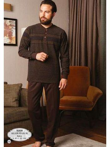 Bone Club 4268 Selanik Pano Desen Patlı Erkek Pijama Takımı
