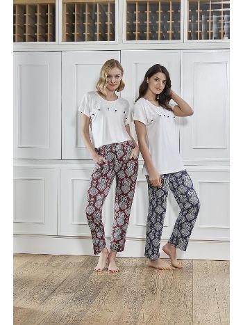 Bone Club 4731 Şal Desen Spor Pijama Takım