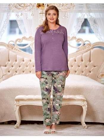 Büyük Beden Pijama Takım Bayan Dowry B09-04