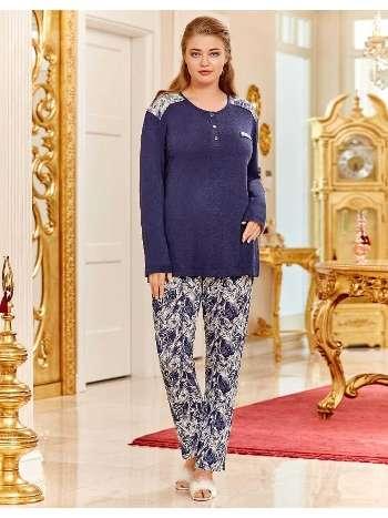 Büyük Beden Bayan Pijama Takım Dowry B09-06