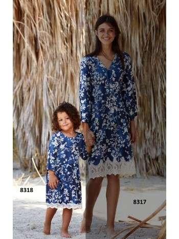 Çocuk Elbise Penye Mood 8318