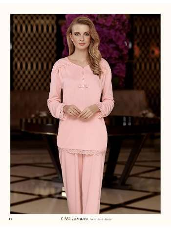 Curvy Dantelli Pijama Takım Fantasy C554