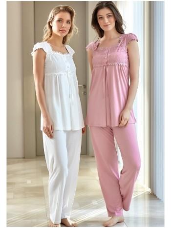 Dantel Lohusa Pijama Takım Bone Club 4520