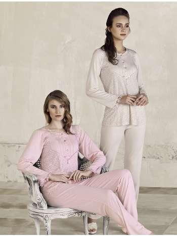 Desenli Pijama Takım Artış 3215