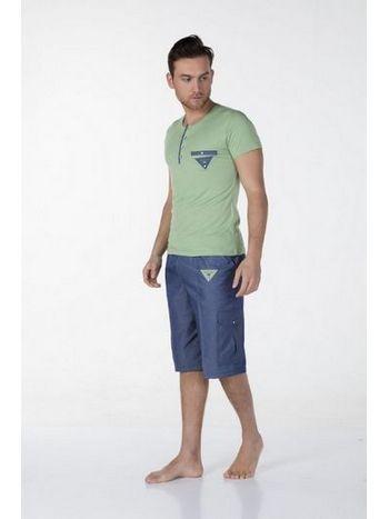 Yarım Kol Erkek Pijama Takım Bone Club 4381