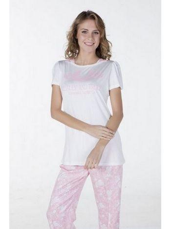 Dokuma Kayık Yaka Pijama Bone Club 4335