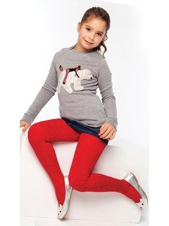 Daymod Ela Desenli Külotlu Çocuk Çorabı