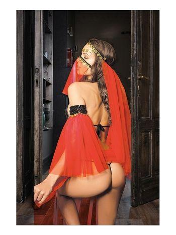 Elawin Kırmızı Tüllü Dansöz Kostümü 8060