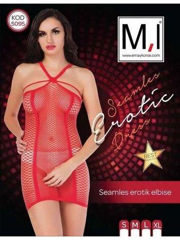 Emay 5095 Dikişsiz Seksi Elbise