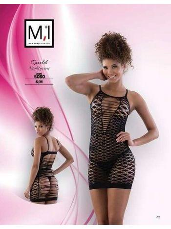Emay Dikişsiz Erotik Ayarlı Askılı Elbise 5080