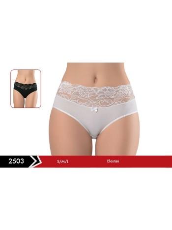 Likralı Dantelli Bikini -3 lü Paket Erdem 2503
