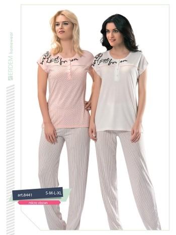 Erdem 8441 Bayan Pijama Micro Viskon