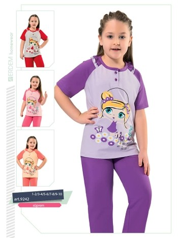 Erdem 9242 Kız Çocuk Pijama Süprem