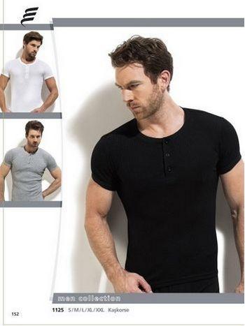 Fitilli Düğmeli Erkek T-Shirt Erdem 1125