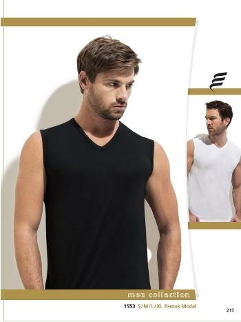 Modal V Vaka Kolsuz Erkek T-Shirt -3 lü Paket Erdem 1553