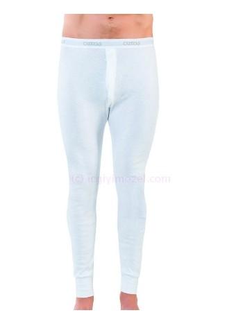 Erkek Beyaz Ribana Uzun Don Öztaş A1154