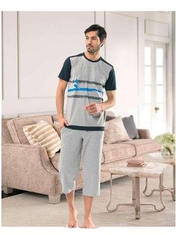 Erkek Kısa Kol-Şort Pijama NBB 7915