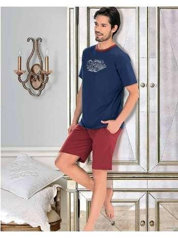 Erkek Kısa Kol T-Shirt-Şort Pijama NBB 7900