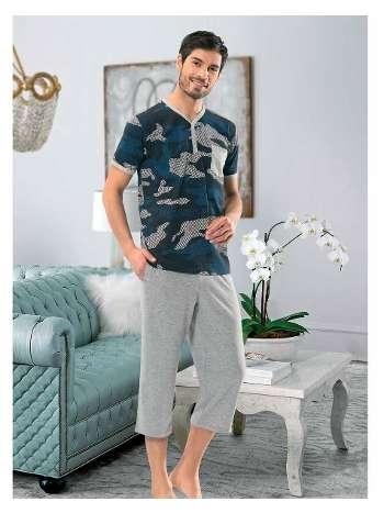 Erkek Patli Kısa Kol-Şort Pijama NBB 7913