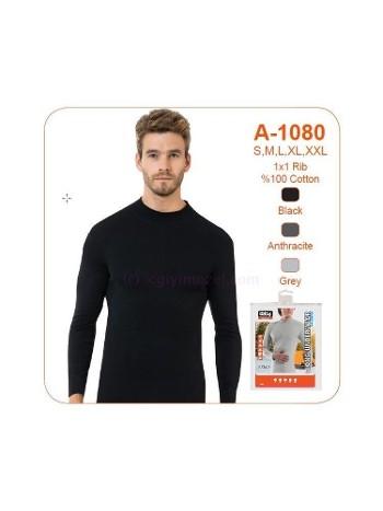 Erkek Renkli Balıkçı Yaka Uzunkol Fanila Öztaş A1080