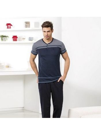 Erkek T-Shirt Pijama Takım Goldenbay 4022