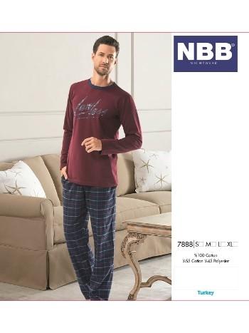 Erkek Uzun Kol Ekose Pijama NBB 7888