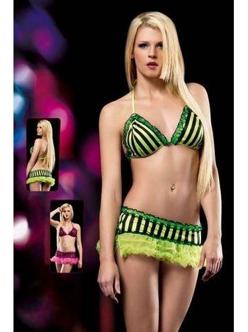 Erotica Neon Fantezi Sütyen Etek Takım 20126
