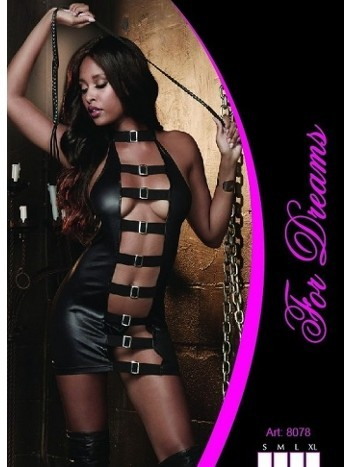 Fantezi Deri Elbise Tokalı Zindan For Dreams 8078