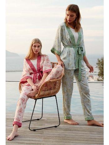 Feyza 3447 Üçlü Pijama Takımı