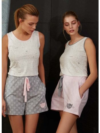 Feyza 3470 Kalpli Üçlü Pijama Takım