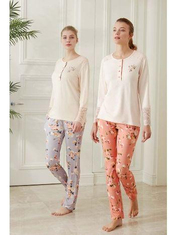 Feyza 3486 Uzun Kol Klasik Pijama Takımı
